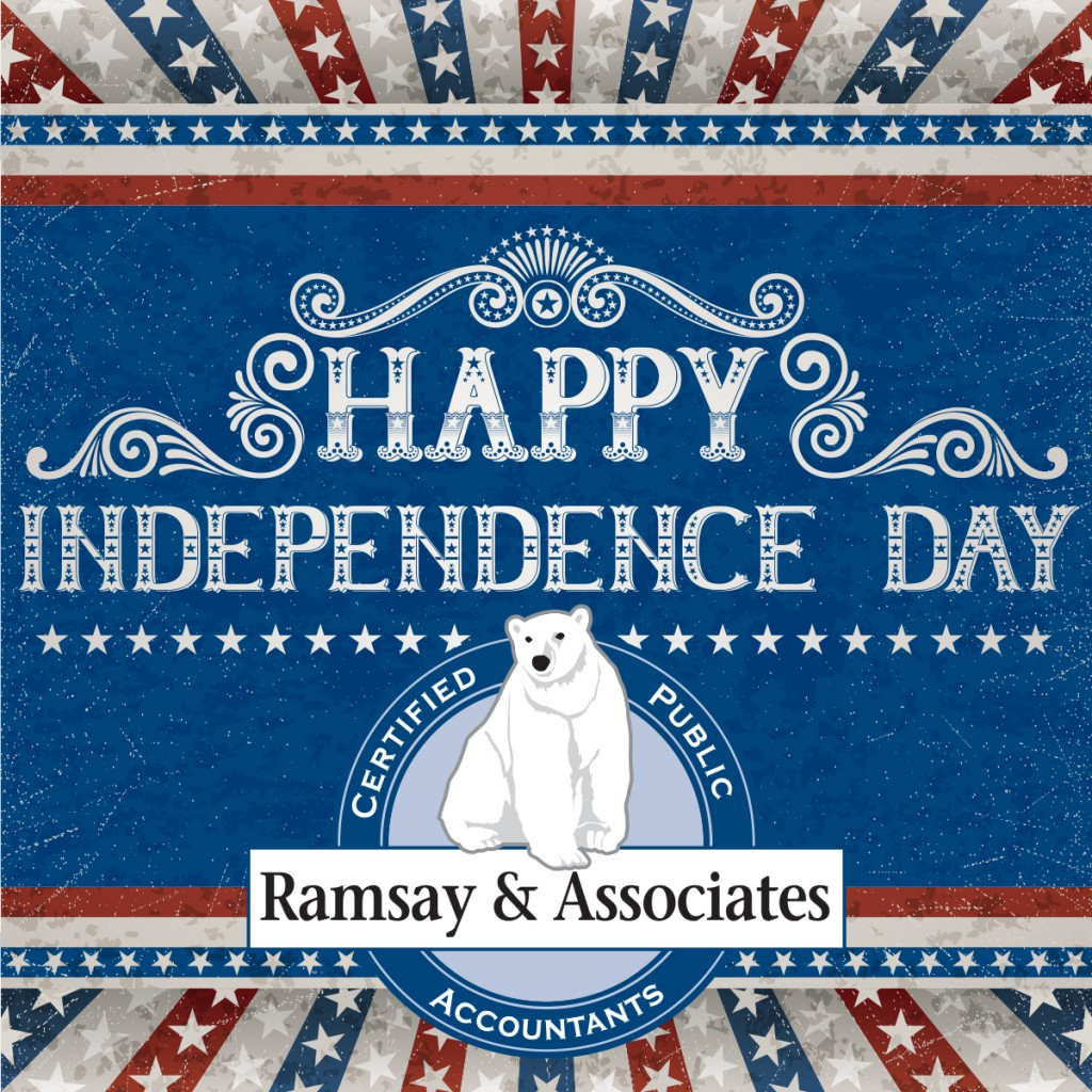 Happy Fourth of July, Ramsay and Associates,  CPA, Mahtomedi, MN
